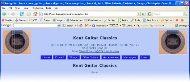 Kent Guitar Classics redirect page - click to enlarge